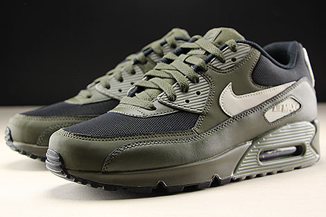 Nike Air Max 90 Essential Cargo Khaki Light Bone Sidedetails