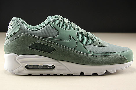 buy popular 1dca6 8eb3a ... Nike Air Max 90 Essential Gruen Weiss Rechts ...