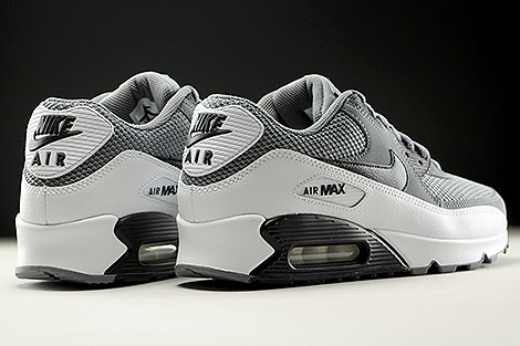 Nike Air Max 90 Essential Cool Grey Black White Back view