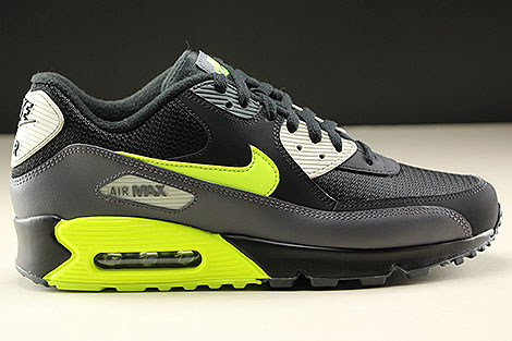 Nike Air Max 90 Essential Dark Grey Volt Black Right
