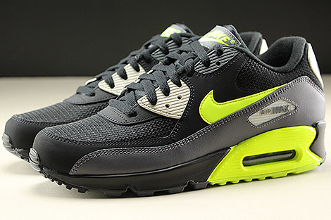 Nike Air Max 90 Essential Dark Grey Volt Black Profile