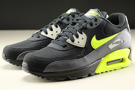 Nike Air Max 90 Essential Dark Grey Volt Black Sidedetails