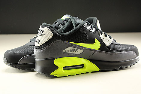 Nike Air Max 90 Essential Dark Grey Volt Black Inside