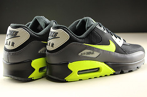 Nike Air Max 90 Essential Dark Grey Volt Black Back view