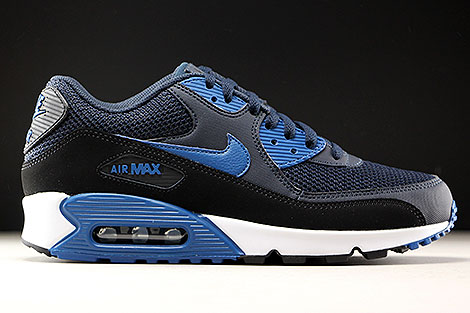 Nike Mens Air Max 90 Essential Leather Mesh Trainers