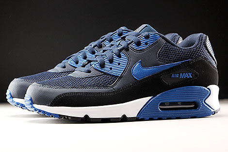 Nike Air Max 90 Essential Dark Obsidian Court Blue Black Profile