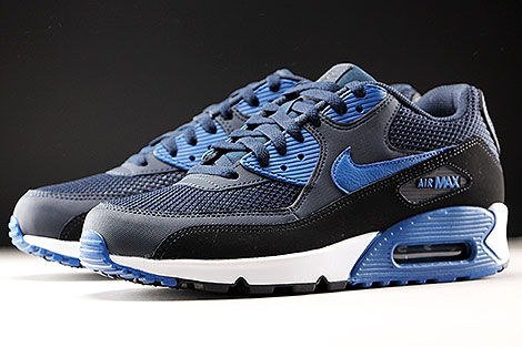 Nike Air Max 90 Essential Dark Obsidian Court Blue Black Sidedetails