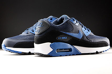 cheap for discount 852d2 9f6d1 ... Nike Air Max 90 Essential Dunkelblau Blau Schwarz Innenseite ...