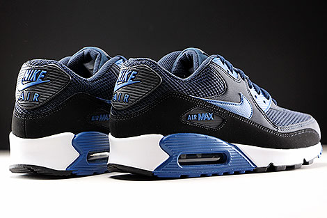 Nike Air Max 90 Essential Dark Obsidian Court Blue Black Back view