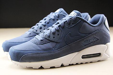 Nike Air Max 90 Essential Blau Weiss Seitenansicht