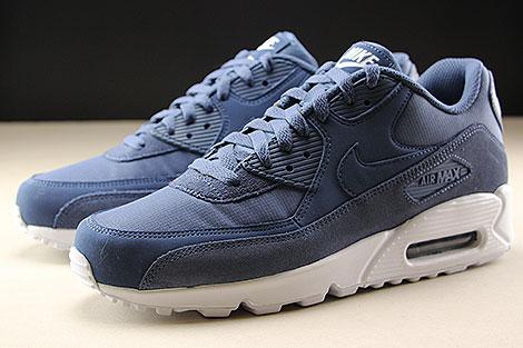 Nike Air Max 90 Essential Blau Weiss Seitendetail