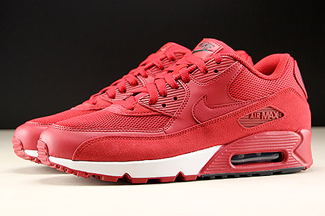 Nike Air Max 90 Essential Gym Red Black White Profile