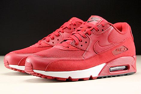 Nike Air Max 90 Essential Rot Schwarz Weiss Seitendetail