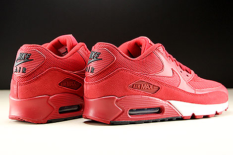 Nike Air Max 90 Essential Gym Red Black White Back view