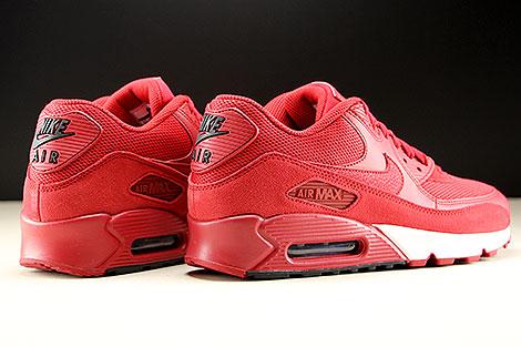 Nike Air Max 90 Essential Rot Schwarz Weiss Rueckansicht