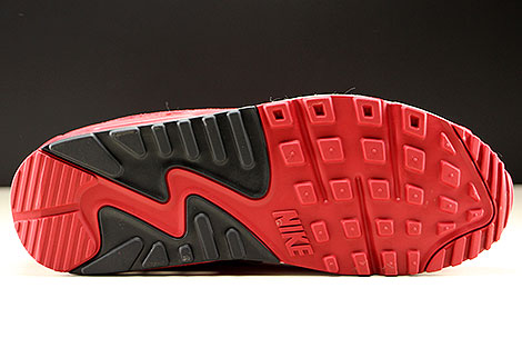 Nike Air Max 90 Essential Rot Schwarz Weiss Laufsohle