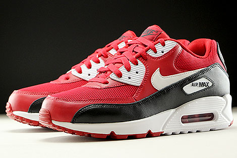 Nike Air Max 90 Essential Gym Red White Black Sidedetails