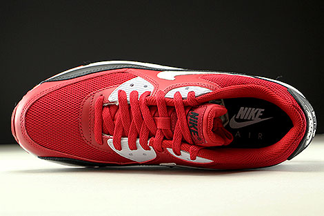 Nike Air Max 90 Essential Gym Red White Black Over view
