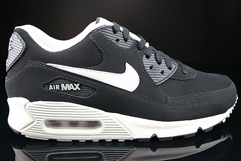 Nike Air Max 90 Essential Leather Black Mortar Mine Grey 599521-001 ... 00bd5c42fe