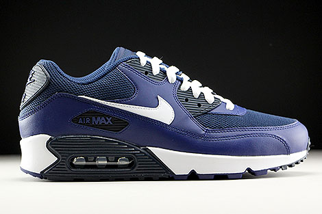Magasin d'alimentation commercialisables en ligne Nike Air Max 90 Robe Bleu  Royal Et Blanc