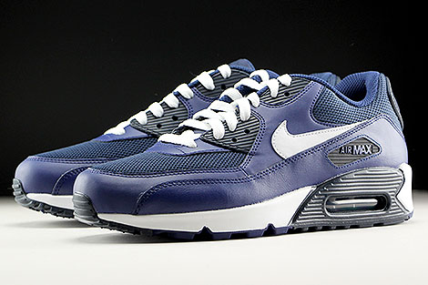 Nike Air Max 90 Essential Loyal Blue White Squadron Blue Dark Obsidian Sidedetails