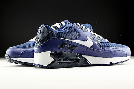Nike Air Max 90 Essential Loyal Blue White Squadron Blue Dark Obsidian Inside