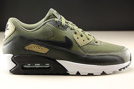 Nike Air Max 90 Essential Medium Olive Black Sequoia AJ1285-201 ...