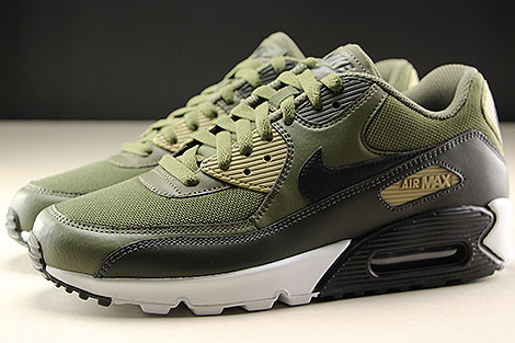 Nike Air Max 90 Essential Medium Olive Black Sequoia Profile