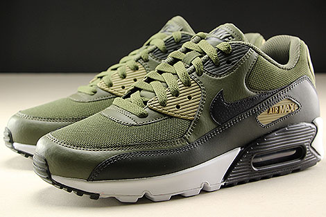 Nike Air Max 90 Essential Medium Olive Black Sequoia Seitendetail