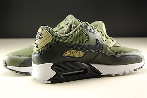 Nike Air Max 90 Essential Medium Olive Black Sequoia Innenseite