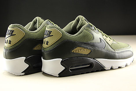Nike Air Max 90 Essential Medium Olive Black Sequoia Back view