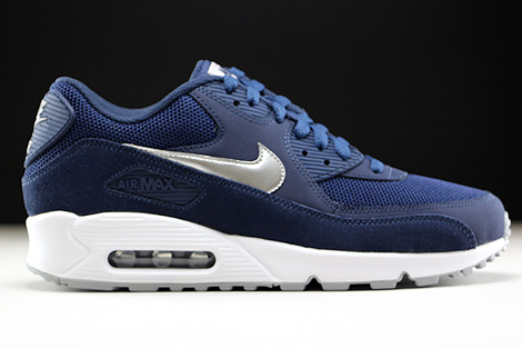 Nike Air Max 90 Essential Midnight Navy Metallic Silver White Right