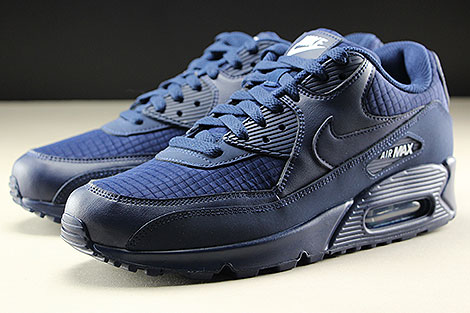 Nike Air Max 90 Essential Midnight Navy White Sidedetails