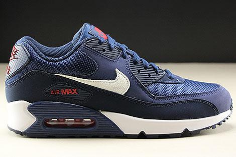 Nike Air Max 90 Essential Midnight Navy White University Red