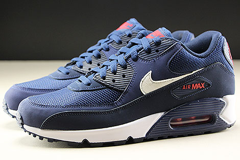 Nike Air Max 90 Essential Midnight Navy White University Red Profile