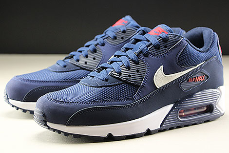 Nike Air Max 90 Essential Midnight Navy White University Red Sidedetails