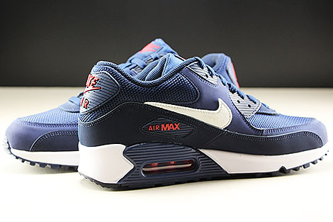 Nike Air Max 90 Essential Midnight Navy White University Red Inside