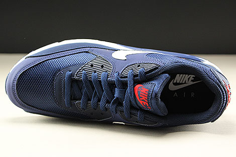 Nike Air Max 90 Essential Midnight Navy White University Red Over view