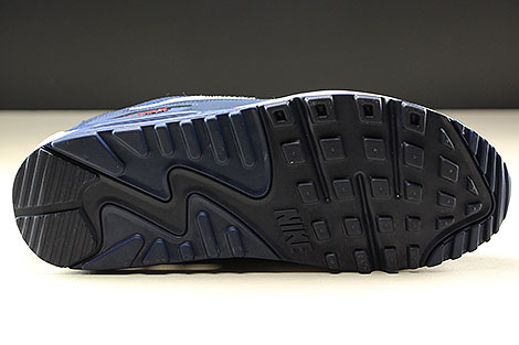 Nike Air Max 90 Essential Midnight Navy White University Red Laufsohle