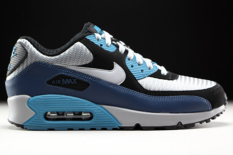 huge selection of 2fe4a 8b41b Nike Air Max 90 Essential Squadron Blue Wolf Grey Black ...