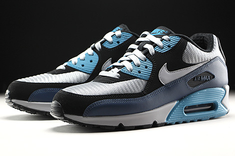 Nike Air Max 90 Essential Squadron Blue Wolf Grey Black Sidedetails