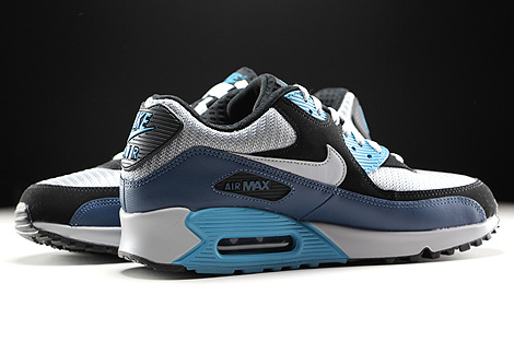 Nike Air Max 90 Essential Squadron Blue Wolf Grey Black Inside