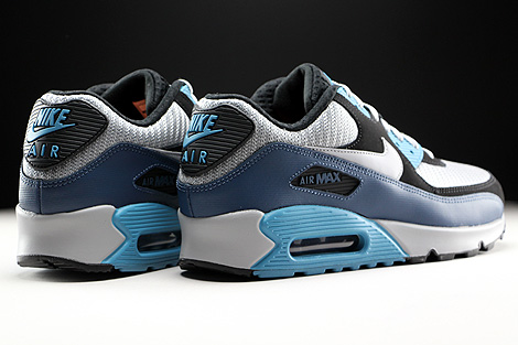 Nike Air Max 90 Essential Squadron Blue Wolf Grey Black Back view