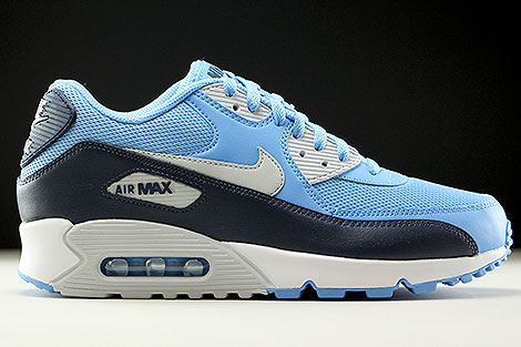Nike Air Max 90 Essential University Blue Pure Platinum Obsidian White Right