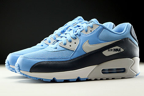 Nike Air Max 90 Essential University Blue Pure Platinum Obsidian White Profile