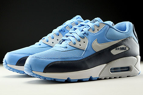Nike Air Max 90 Essential University Blue Pure Platinum Obsidian White Sidedetails
