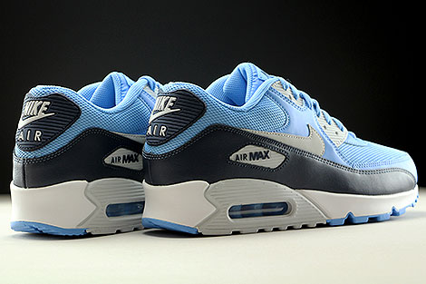 Nike Air Max 90 Essential University Blue Pure Platinum Obsidian White Back view