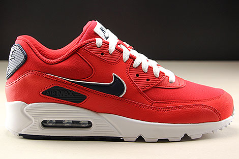Nike Air Max 90 Essential University Red White Blackened Blue Right