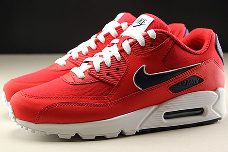 Nike Air Max 90 Essential University Red White Blackened Blue Profile