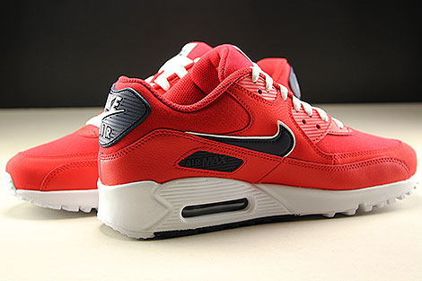Nike Air Max 90 Essential University Red White Blackened Blue Inside